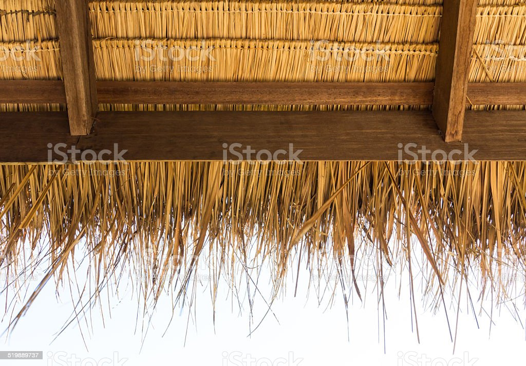 The under thatched roof in the countryside, Thailand stock photo