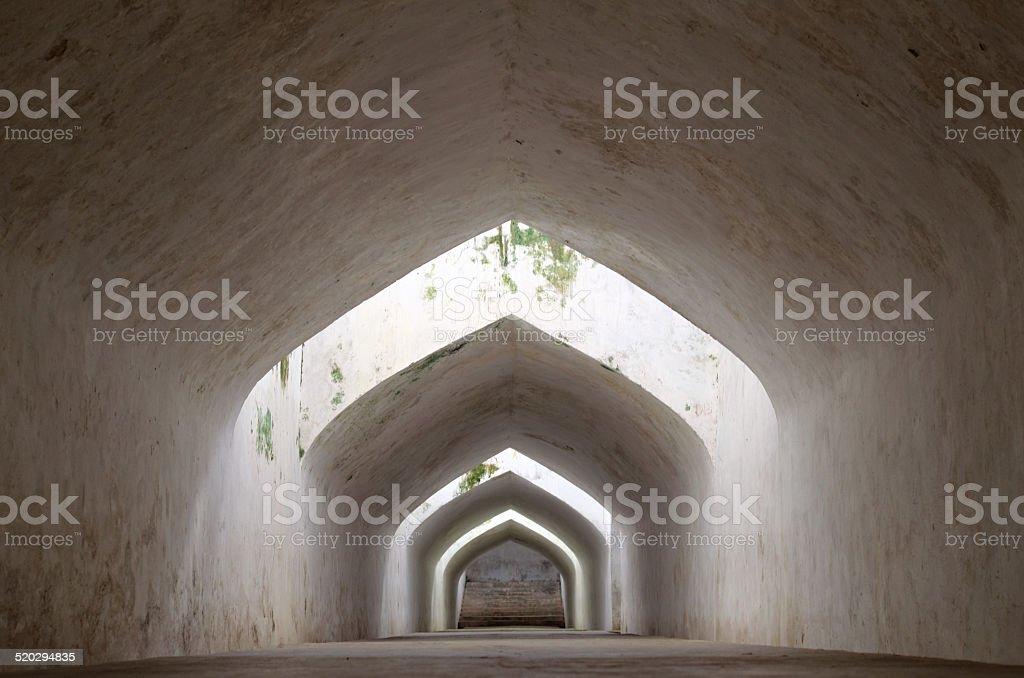the underground walkway tunnel stock photo