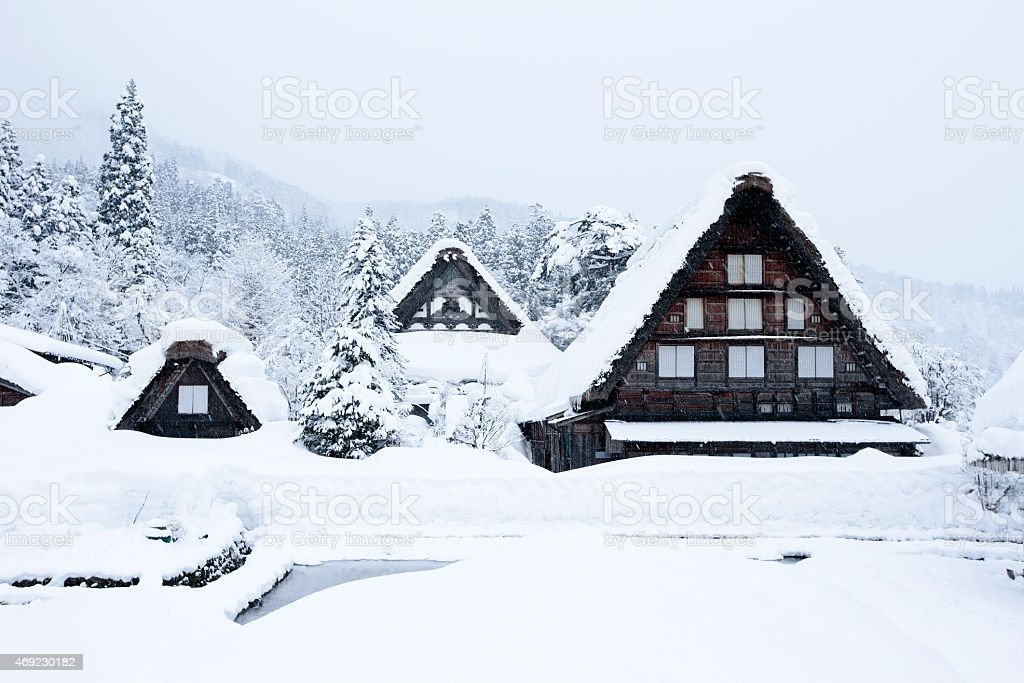 The UNESCO World Heritage Villages, Shirakawa-go Japan stock photo