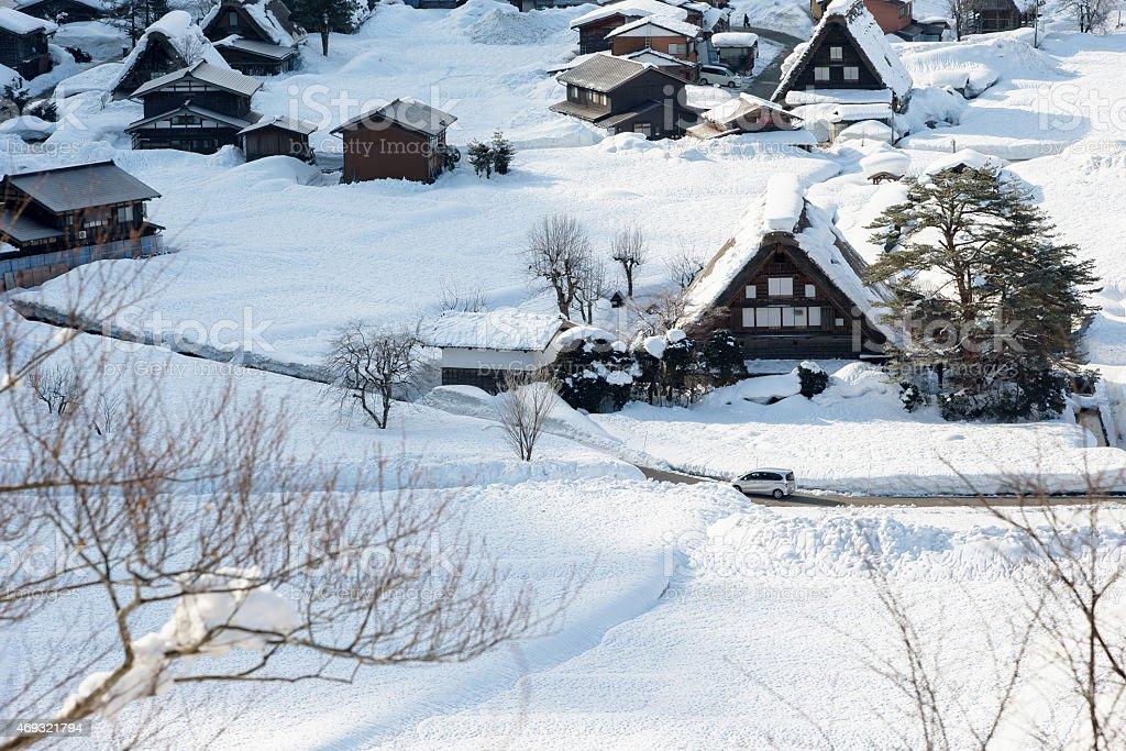 The UNESCO World Heritage Villages, Shirakawa-go, Japan stock photo