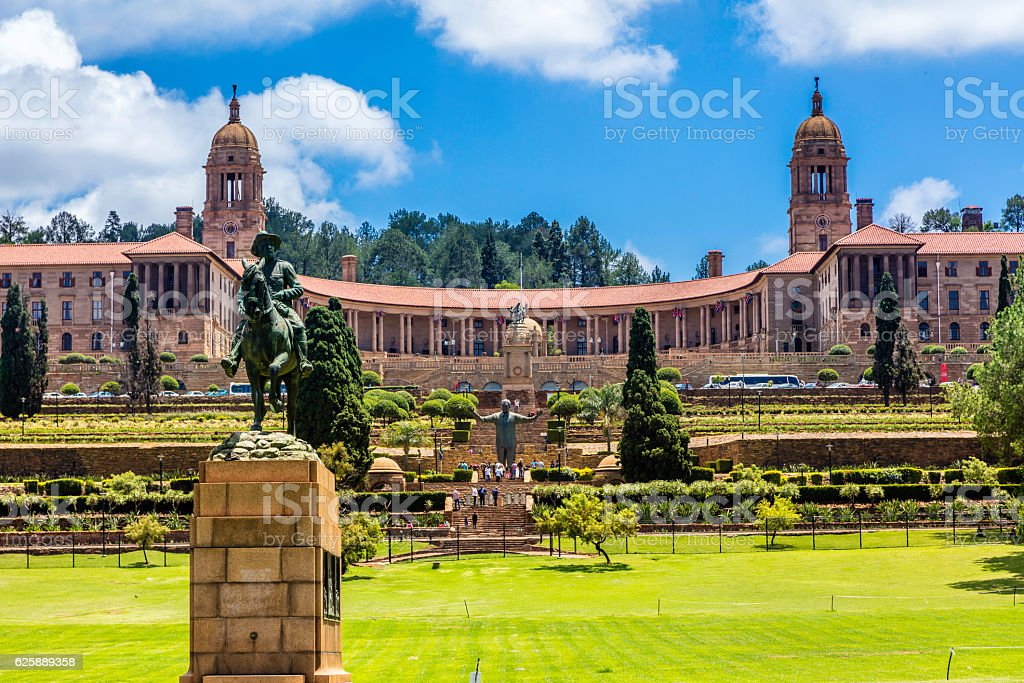 The Union Buildings in Pretoria, South Africa stock photo