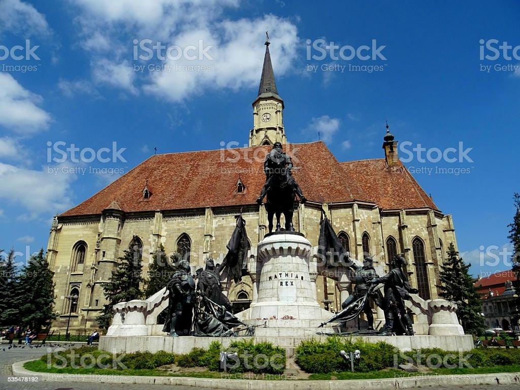 the union square, cluj-napoca, transylvania,romania stock photo