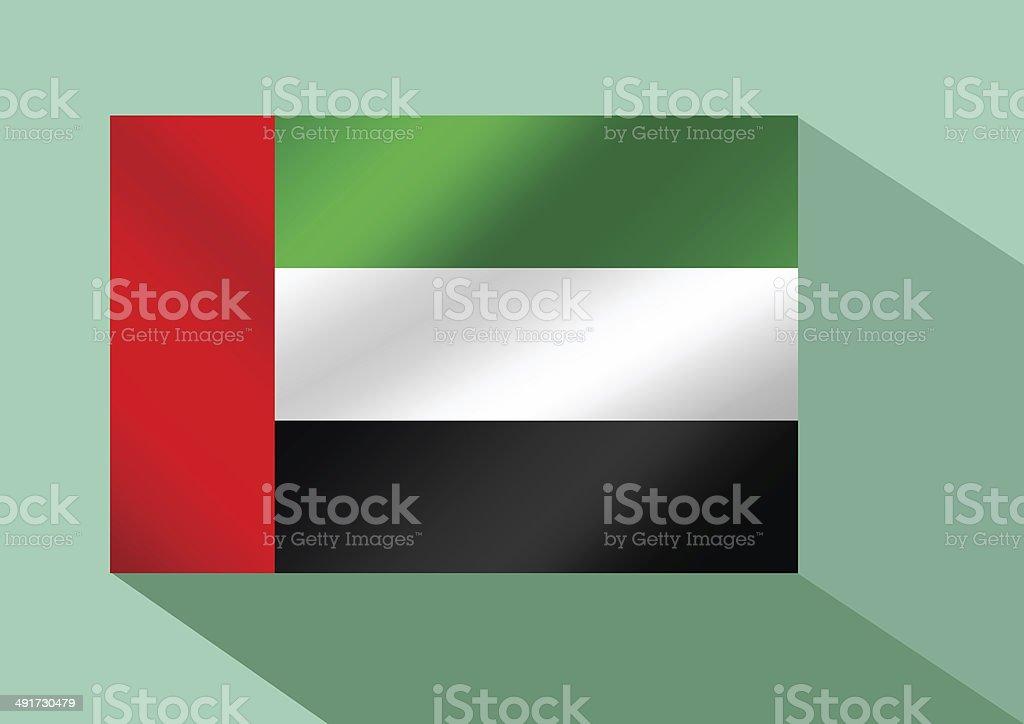 the United Arab Emirates flag UAE stock photo