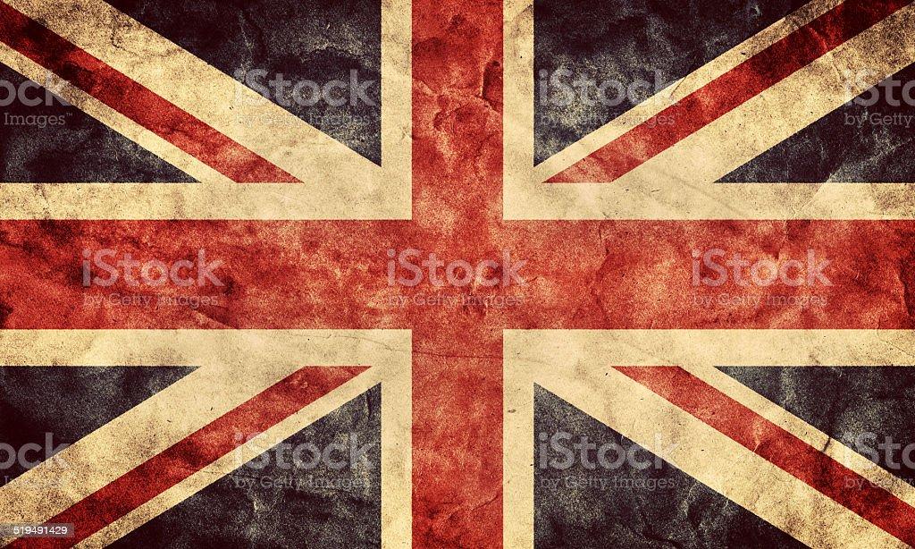 The United Kingdom grunge flag stock photo