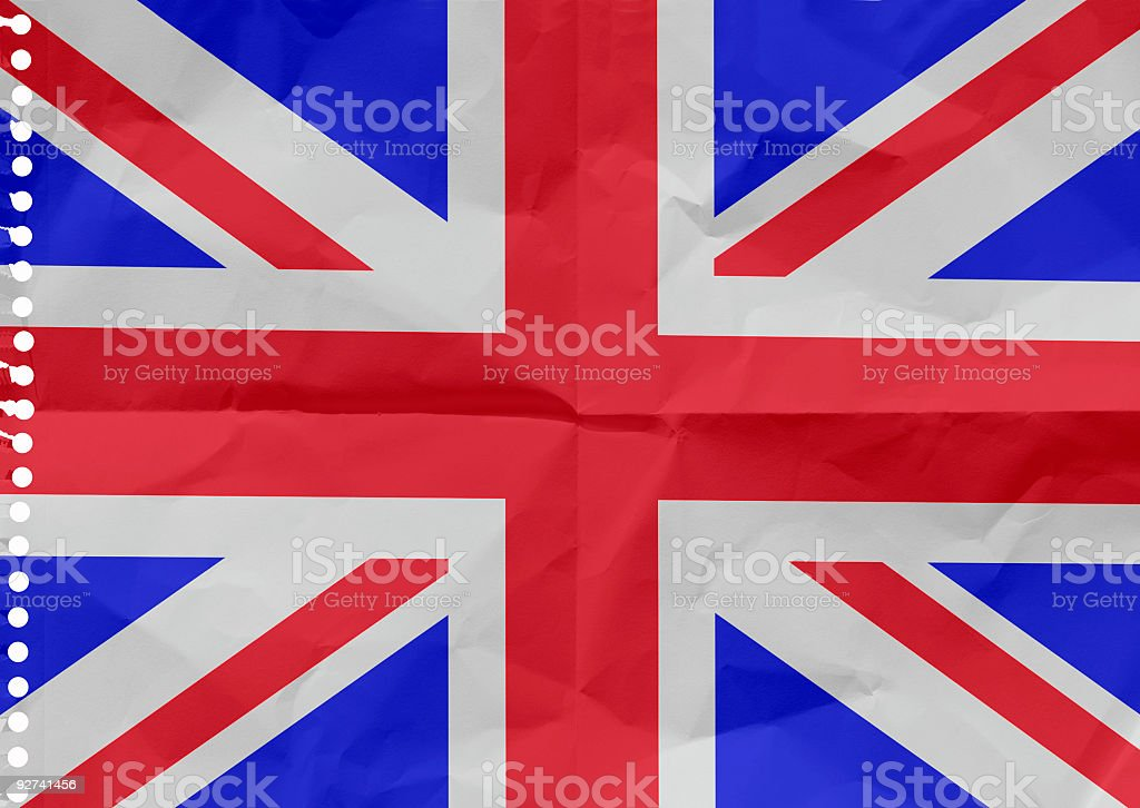 The United Kingdom on a piece of paper royalty-free stock photo