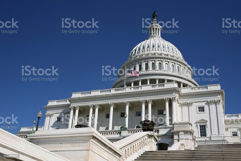 The United States Capitol building in Washington D.C stock photo