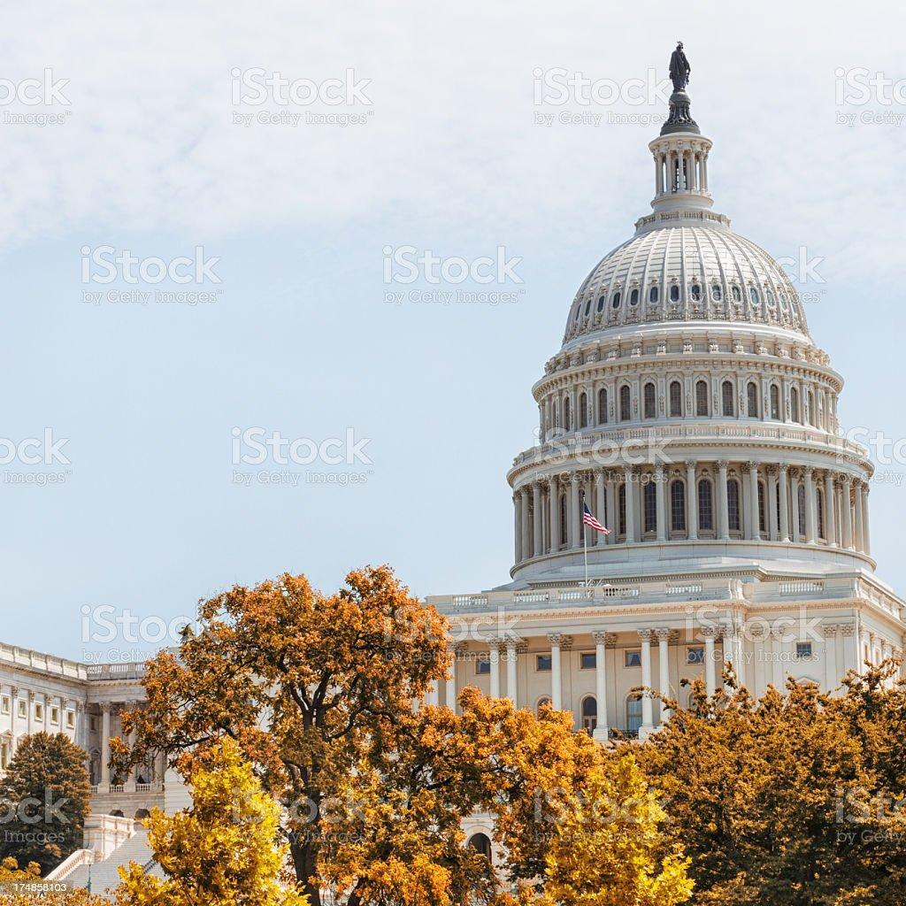 The United States Capitol building on Washington DC royalty-free stock photo