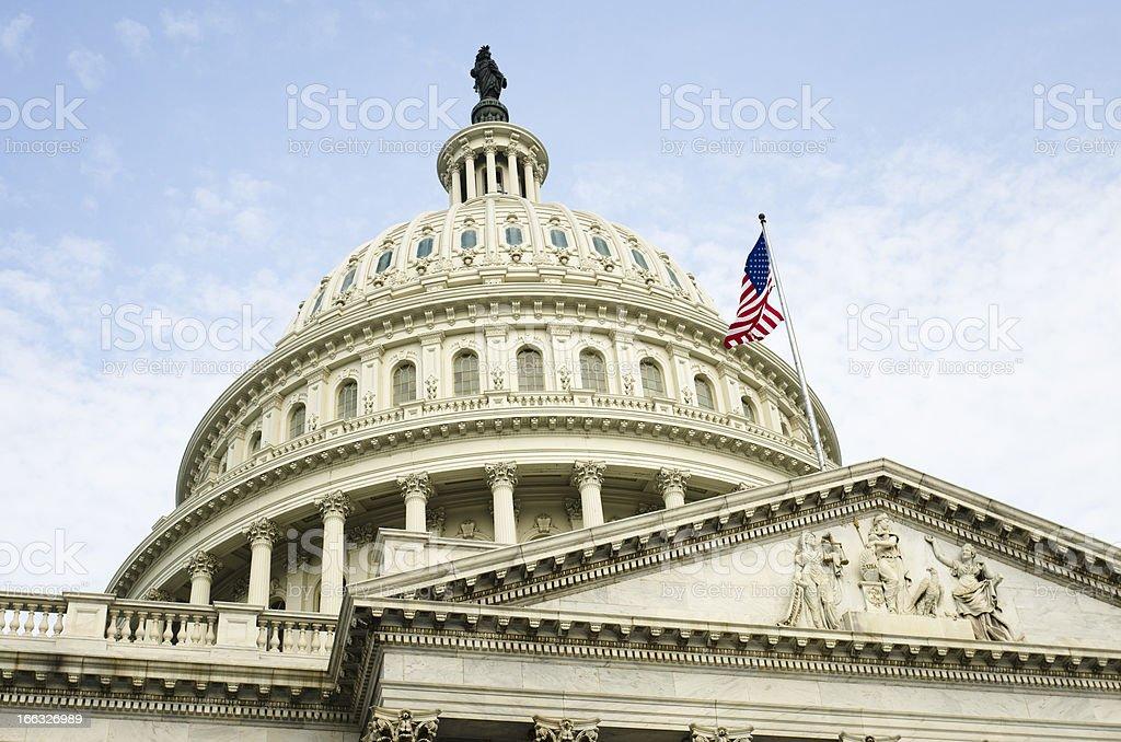 The United States Capitol building - Washington DC royalty-free stock photo