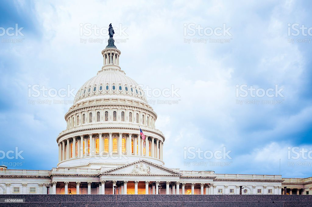 The United States Capitol Building, Washington DC stock photo