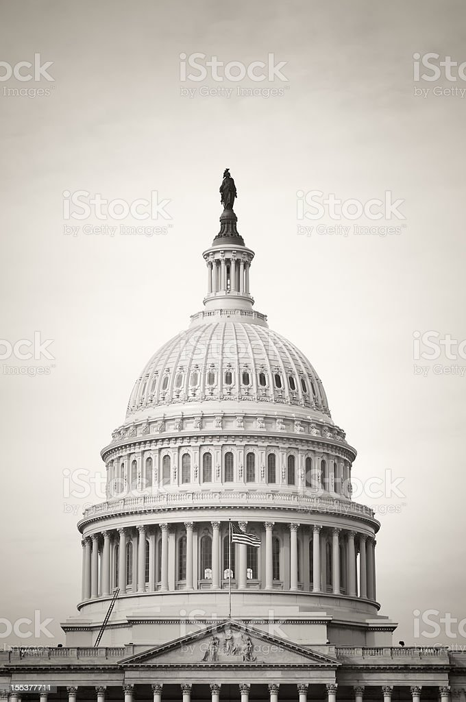 The United States Capitol in Washington DC royalty-free stock photo