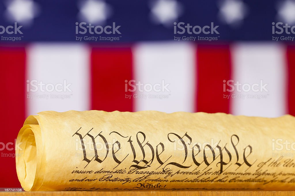 The United States Constitution stock photo