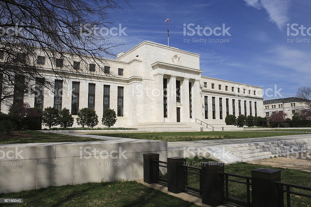 The United States Federal Reserve stock photo