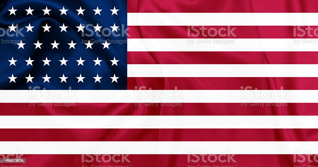 The United States of America from 1861 to 1863 stock photo