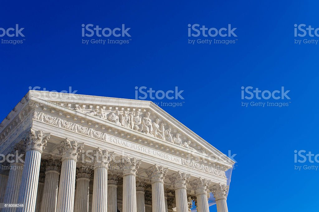The United States Supreme Court building stock photo