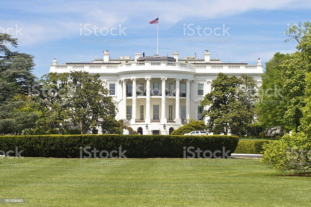 The United States Whitehouse in Washington DC stock photo