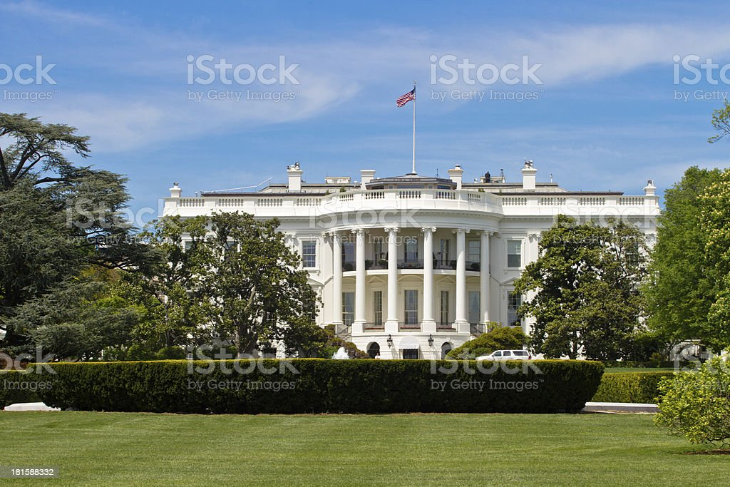 The United States Whitehouse in Washington DC stock photo
