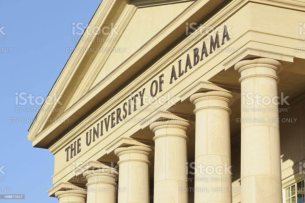 The University of Alabama sign stock photo
