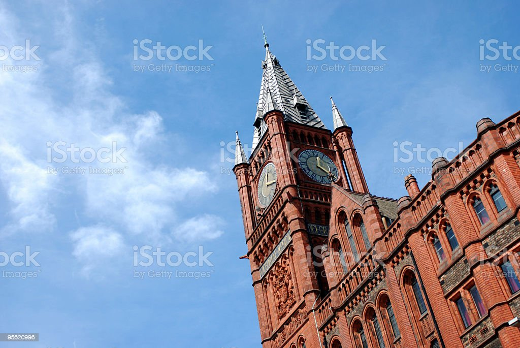 The University of Liverpool Victoria Building royalty-free stock photo