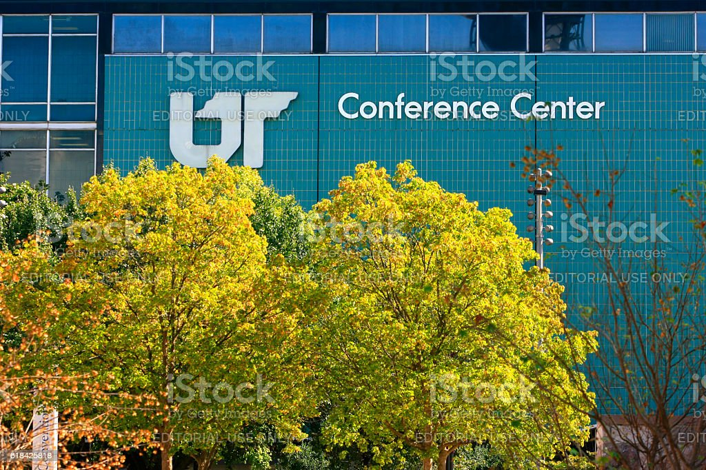 The University of Tennessee Conferenece Center building in Knoxville TN stock photo