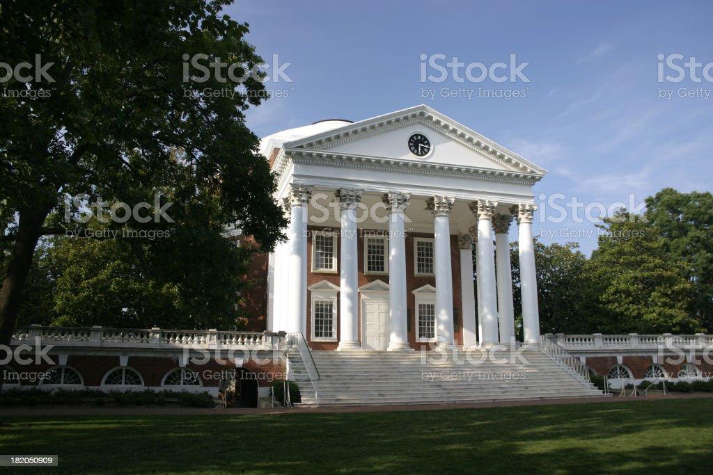 The University of Virginia's Rotunda stock photo