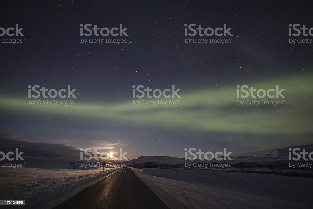 The uplit road royalty-free stock photo
