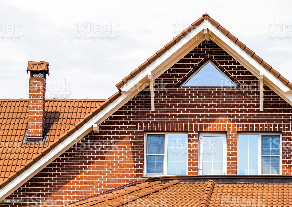 The upper part of the house stock photo
