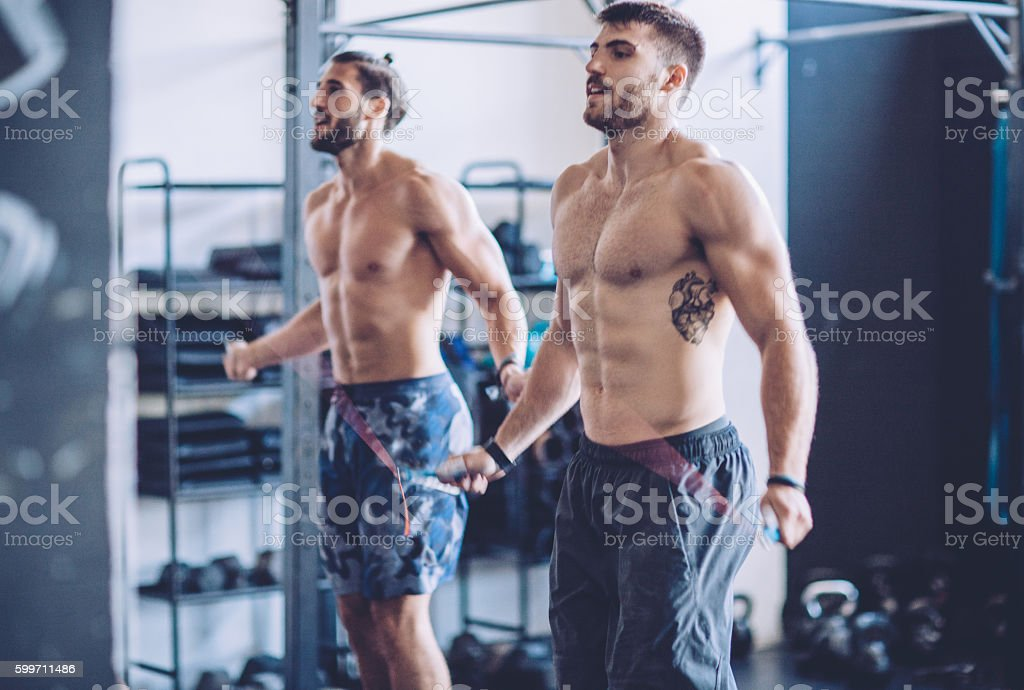 The ups and downs on training stock photo