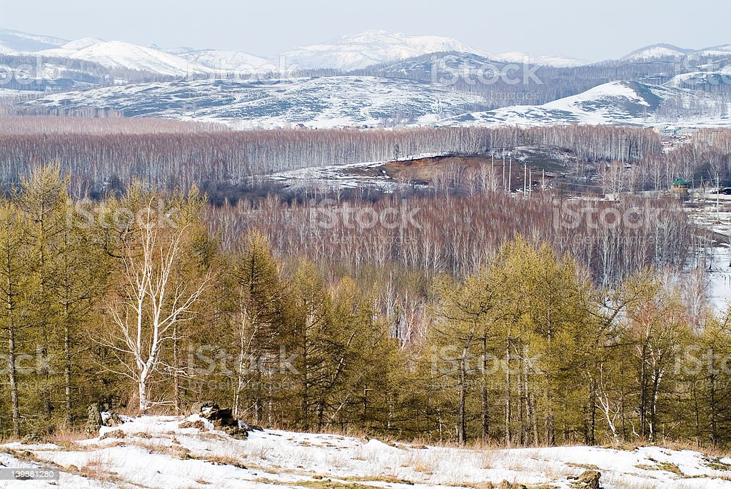 The Ural mountains royalty-free stock photo
