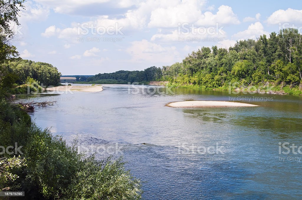 The Ural River. Shoaling stock photo