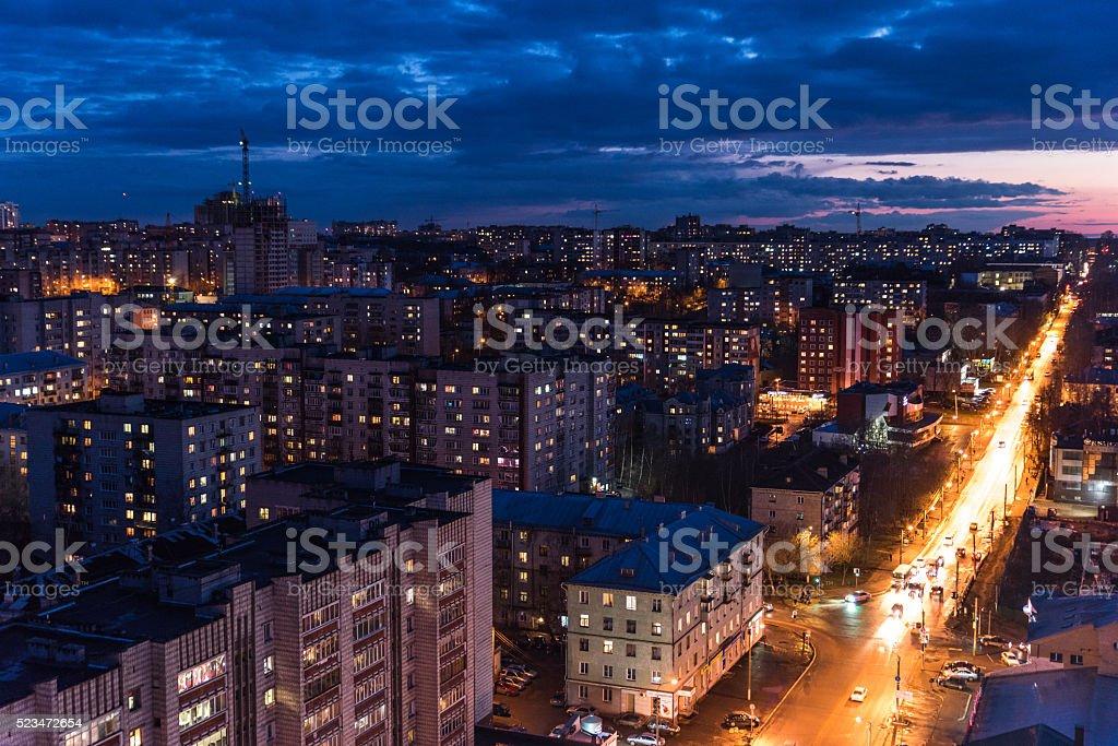 The urban landscape of russia stock photo