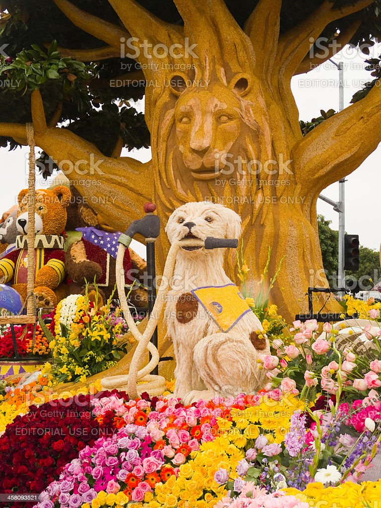 The U.S. Bank's 2011 Rose Parade Float stock photo