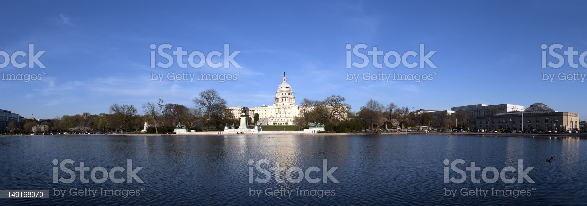 The US Capitol at sunset royalty-free stock photo