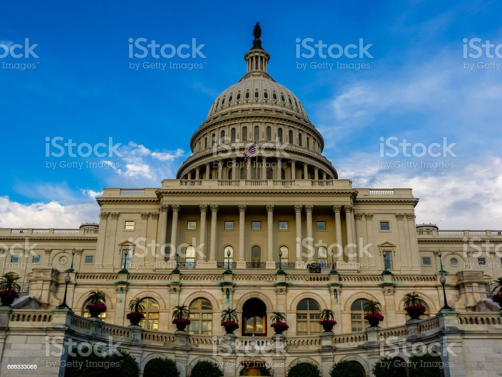 The US Capitol Buidling in Washington, D.C., USA. stock photo
