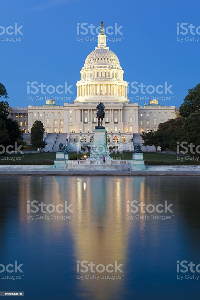 The US Capitol Building In Washington DC stock photo