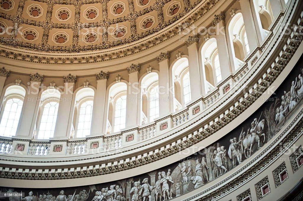 The US Capitol Dome, Interior, Washington DC stock photo