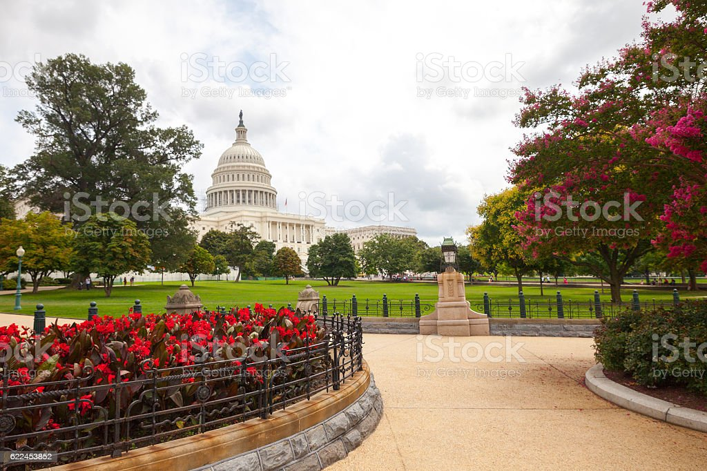 The US Capitol in Washington DC Landscape stock photo