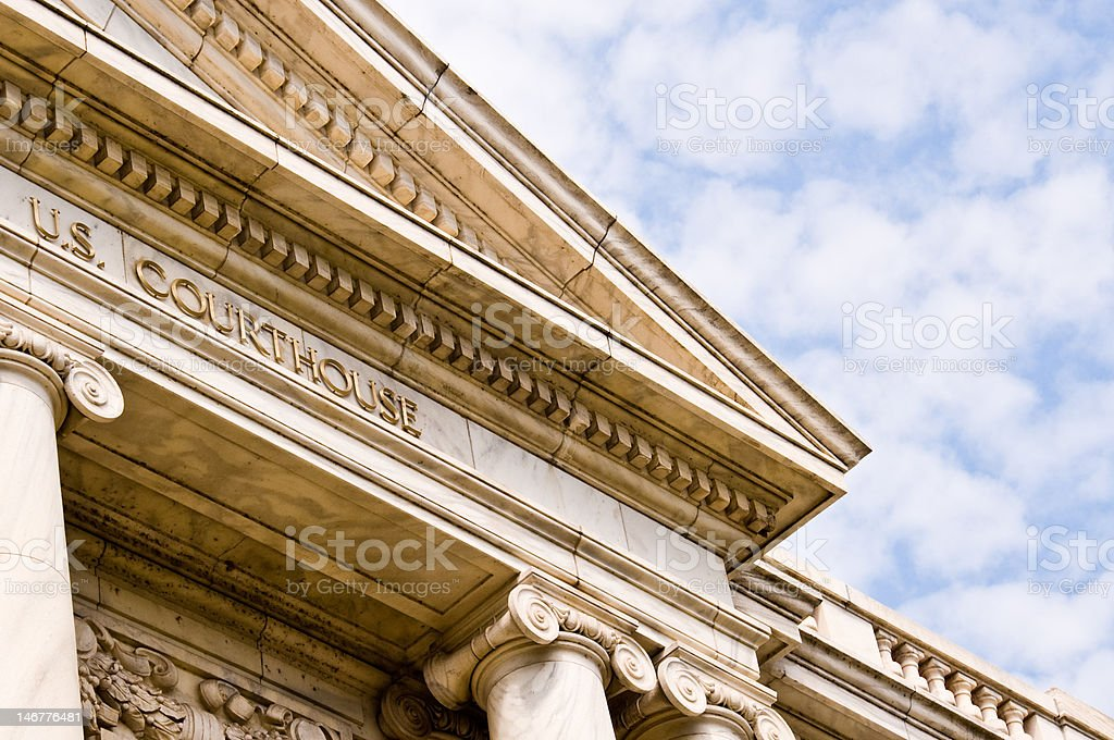 The U.S. Courthouse royalty-free stock photo