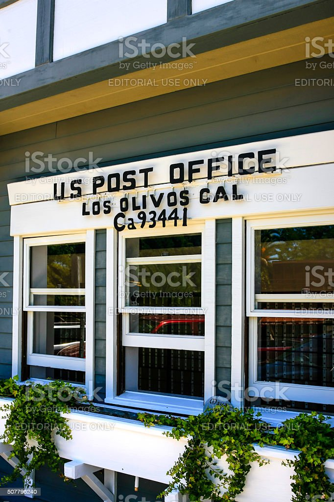 The US Post Office building in Los Olivos stock photo