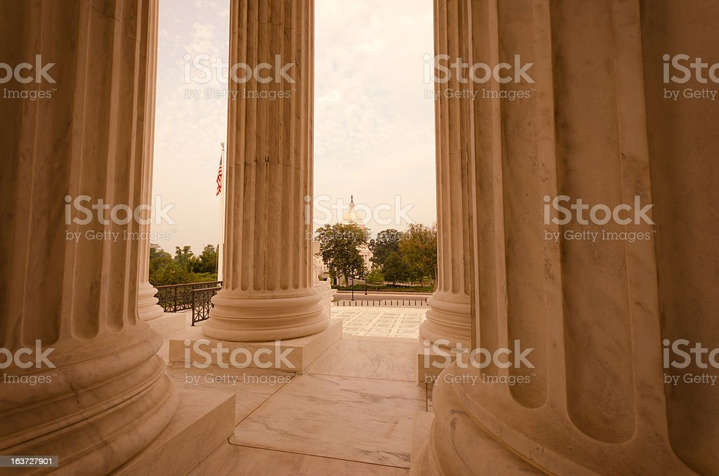The US Supreme Court and Capitol Building - Washington DC royalty-free stock photo