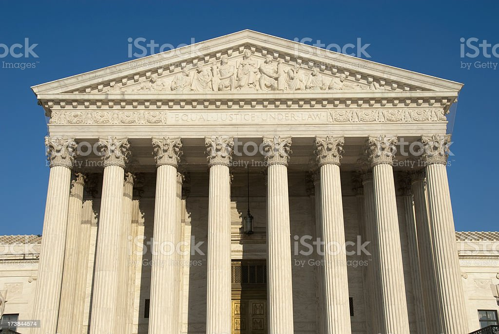 The U.S. Supreme Court royalty-free stock photo