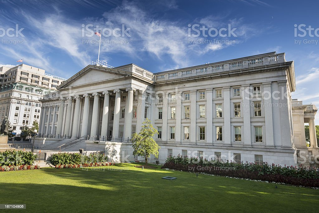 The US Treasury Department, Washington DC stock photo
