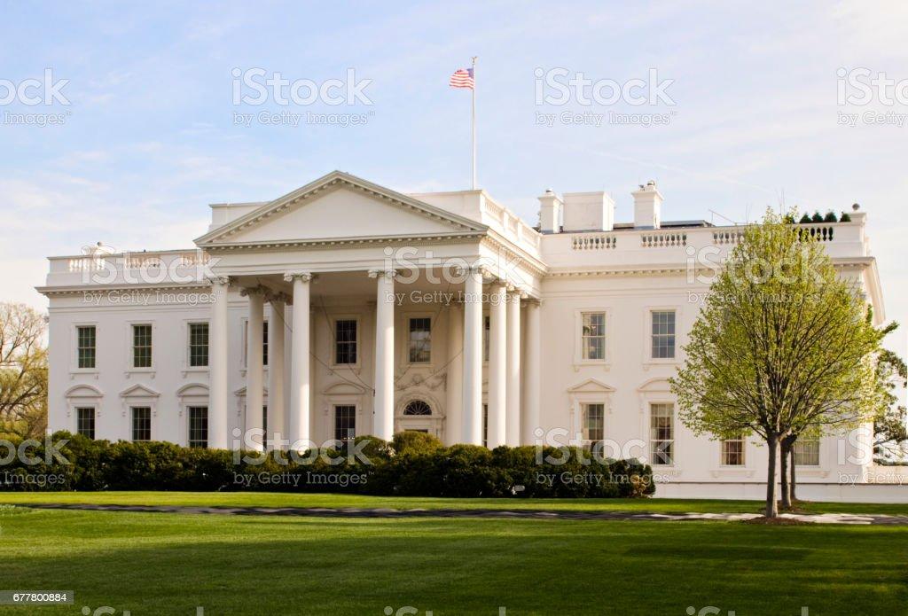The US White House in Washington DC stock photo