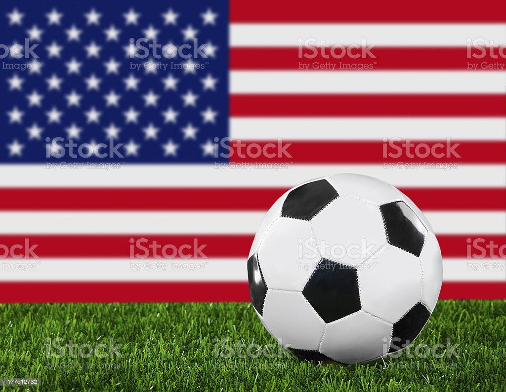 The USA flag royalty-free stock photo