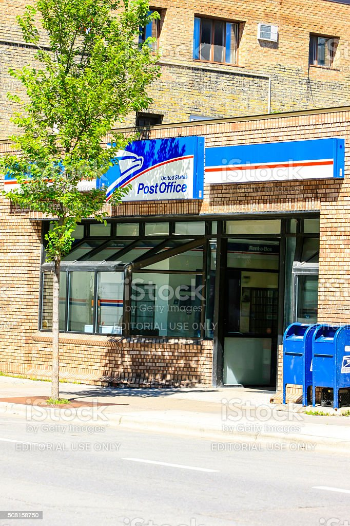 The USPS office on Lake Street in Madison Wisconsin stock photo