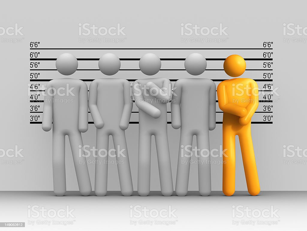 The Usual Suspects royalty-free stock photo
