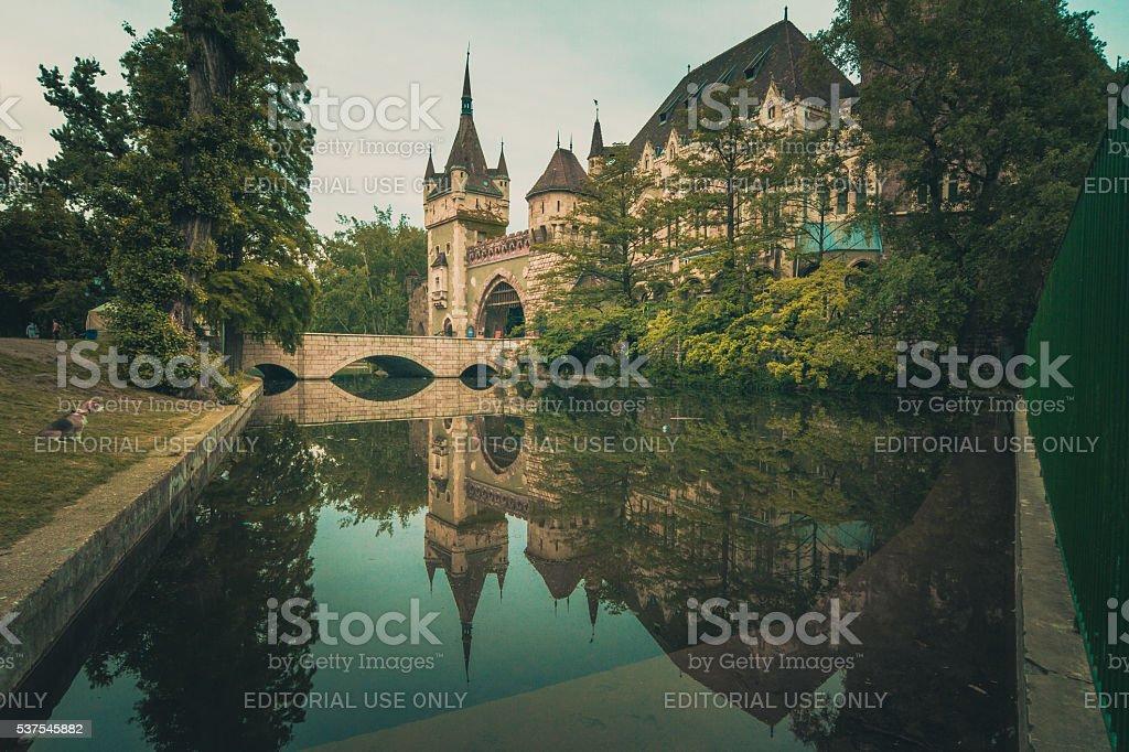 The Vajdahunyad Castle in Budapest stock photo