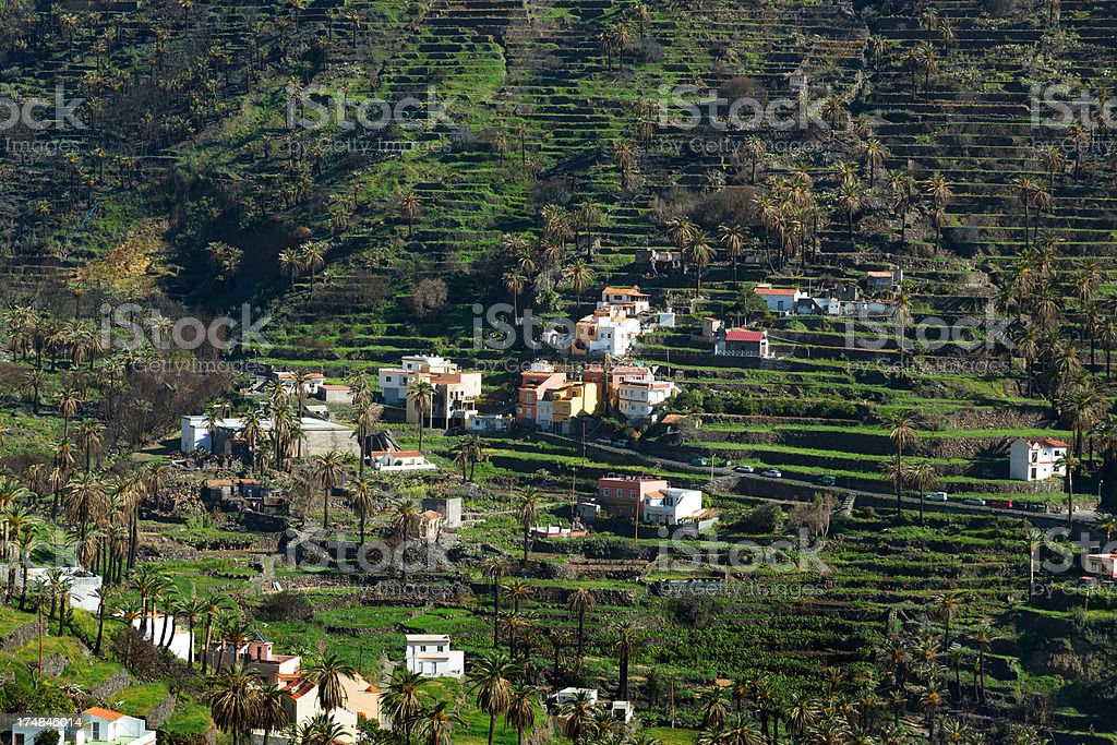The Valle Gran Rey on La Gomera stock photo
