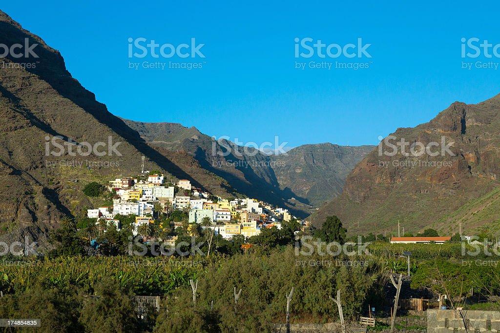 The Valle Gran Rey on  La Gomera royalty-free stock photo