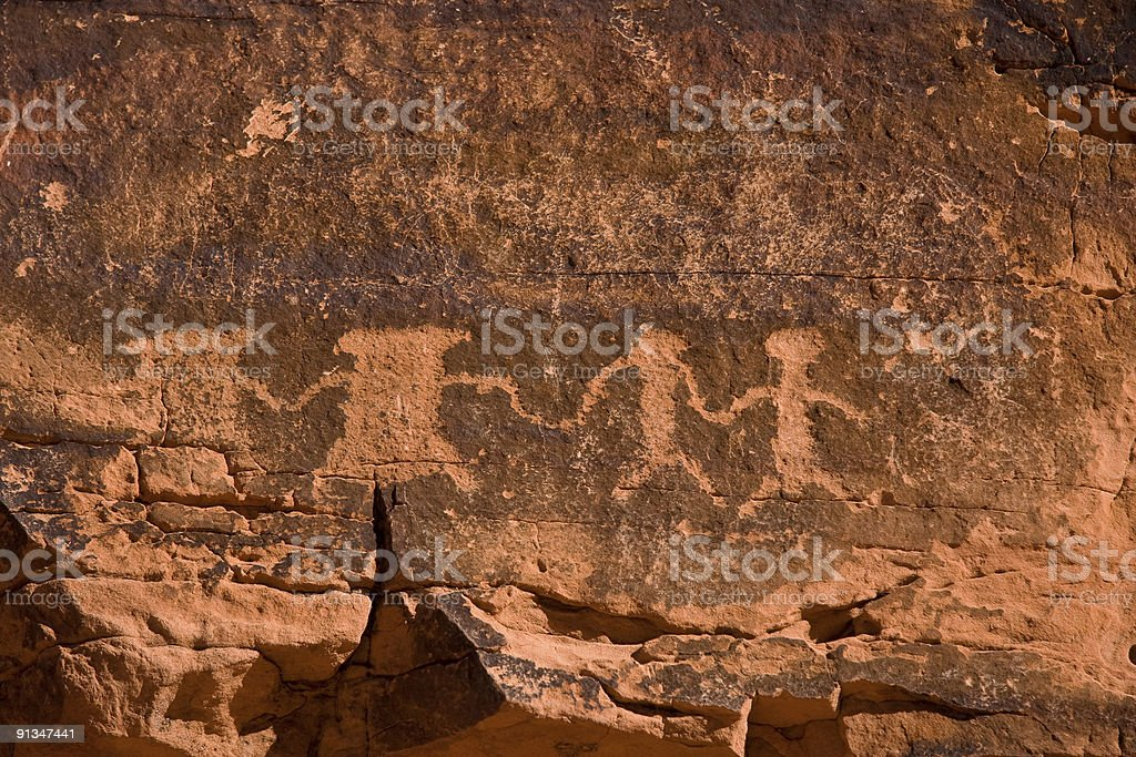 The Valley of Fire Petroglyphs royalty-free stock photo