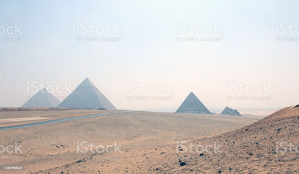 The Valley of Giza royalty-free stock photo